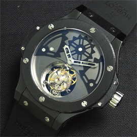 ウブロ ビッグバン トゥールビヨン ソロ バットバン 28800振動 (手巻き)