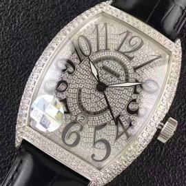 人気コピー時計 フランク・ミュラー ブラック・クロコ21600振動 (自動巻き)