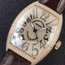 最高級フランク・ミュラー  コピー時計 ブラック・クロコ21600振動 (自動巻き)