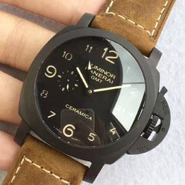 パネライ コピー時計 ルミノール1950 3デイズ GMT オートマチック チェラミカ PAM00441