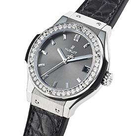 ウブロコピー レーシンググレー チタニウムダイヤモンド 581.NX.7071.LR.1104 ケースサイズ 33mm